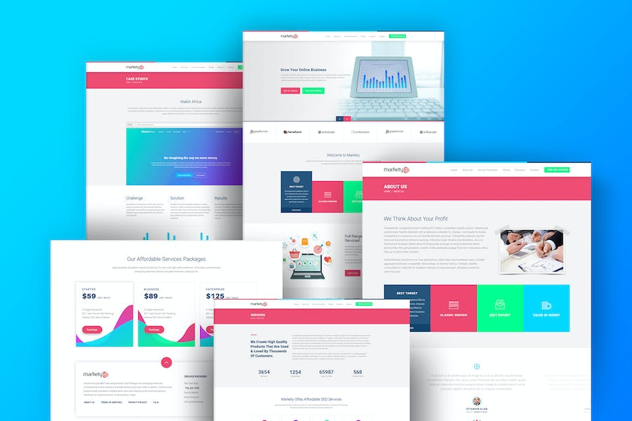 Markety - SEO & Digital Marketing WordPress Theme