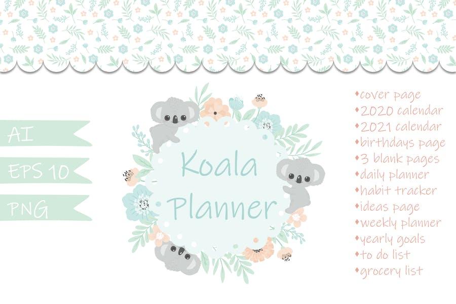 Koala Floral Vector Planner