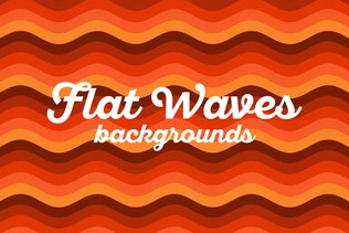 Retro Colorful Waves Backgrounds