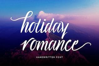 Holiday Romance Beautiful Cursive Font Script