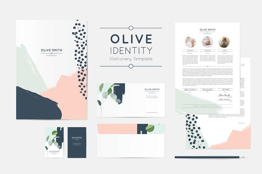 Olive Identity Stationery Template