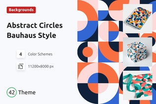 Background Abstract Circles Bauhaus Style