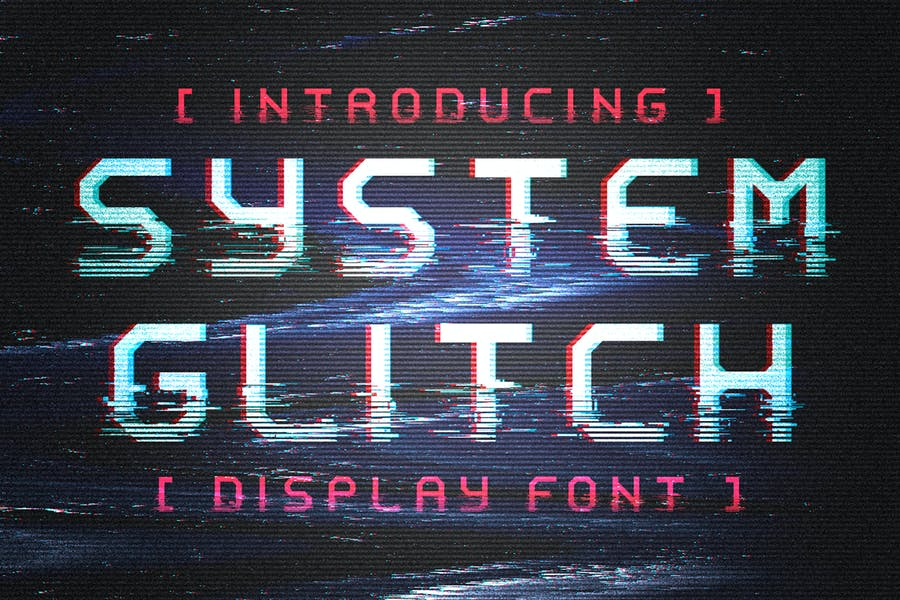 System Glitch - Display Font