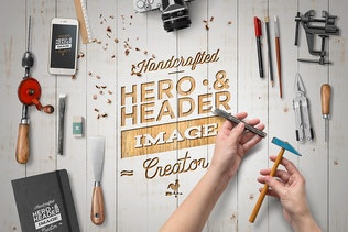 Hero Image Scene Creator / Mock-Up