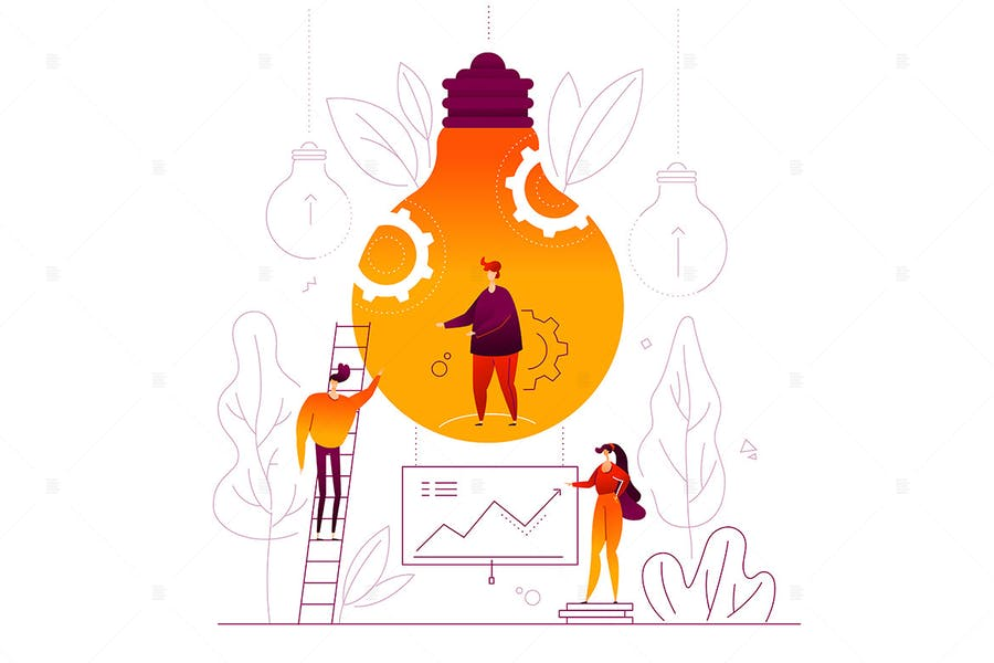Business idea - flat design style illustration