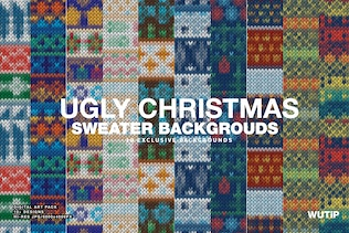 Ugly Christmas Sweater Backgrounds