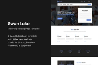 Swan Lake - Marketing Landing Page