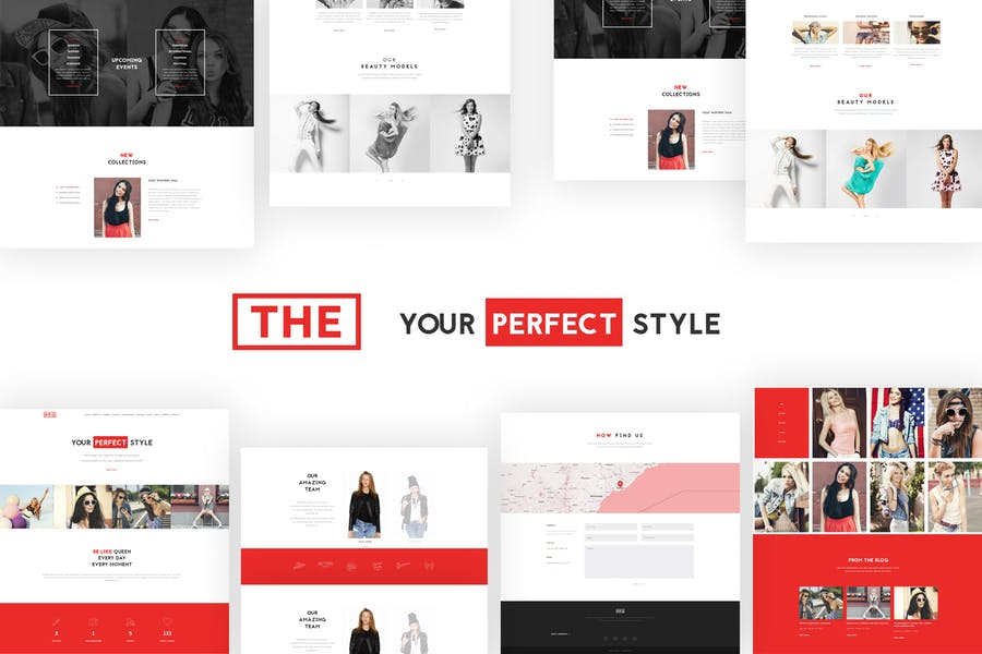 The Fashion Model Agency One Page Beauty WP Theme