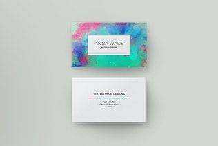 Watercolor Business Cards I