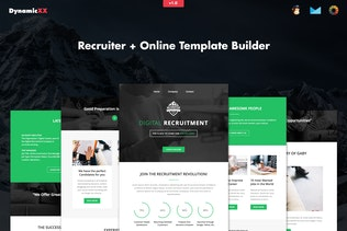 Recruiter - Responsive Recruitment Email + Builder
