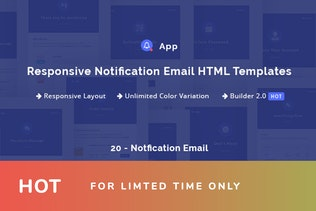NotificationApp - Responsive Notification Email HT