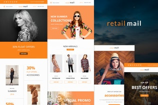 Retail Mail - Responsive E-mail Templates set