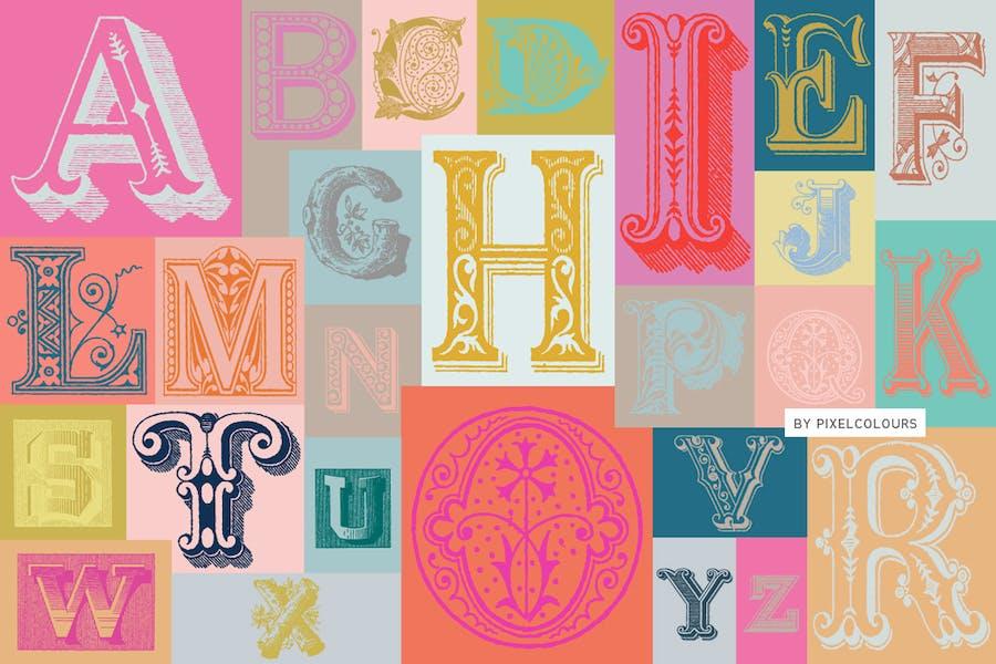 Cover for Antique Ornaments Alphabet Font