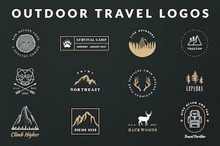 Vintage Outdoor Travel Logos