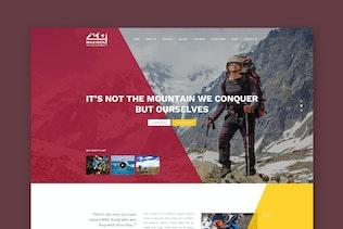 Maxigen - Hiking & Outdoors PSD Template