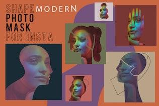 Modern shape photo mask for Insta