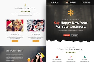 Christmas Responsive Email Template + Online Build