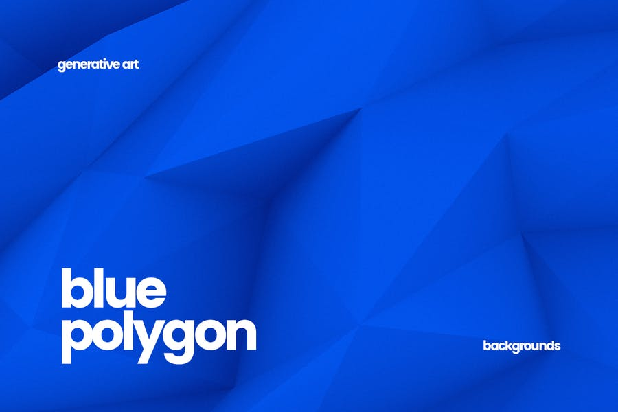 Blue Polygon Backgrounds