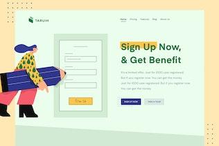 Taruih - Sign Up Header