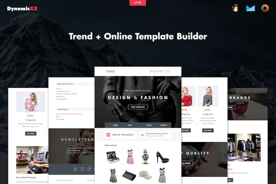 Trend - Responsive Fashion Email + Online Builder