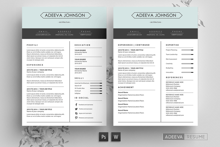 Clean Resume Template Johnson