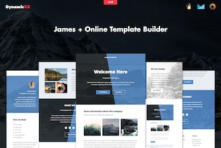 James - Responsive Email + Online Template Builder