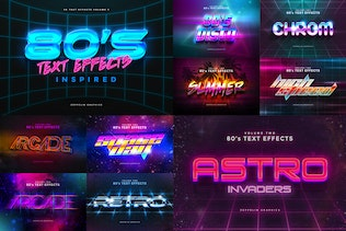 80s Text Effects Vol.1