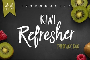 Kiwi Refresher Font Duo