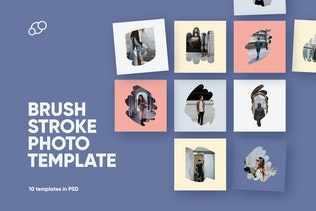 Brush Stroke Photo Template