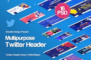 Twitter Headers Multipurpose, Business Ad