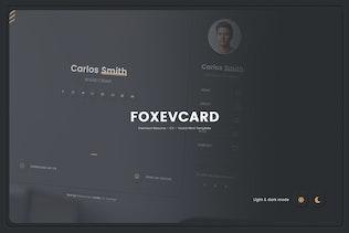 Foxevcard - Premium Resume/ CV Html Template