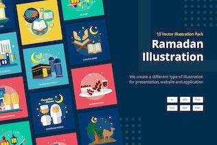 Ramadan Mubarak Vector Illustration