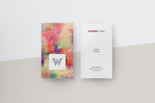 Watercolor Business Cards II