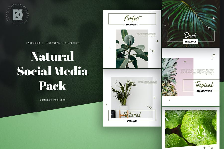 Natural Green Social Media Pack